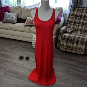 Old Navy red tank maxi dress